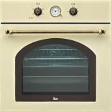 Духовой шкаф Teka Rustica HR 550 41561214 бежевый, ручки - латунь