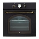 Духовой шкаф Teka Rustica HR 550 41561013 черный, ручки - золото