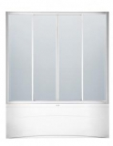 Штора на ванну KO&PO 1500х1500 стекло прозрачное (150S-2)