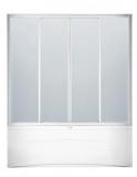 Штора на ванну KO&PO 1500х1500 профиль белый, стекло прозрачное (150W-2)