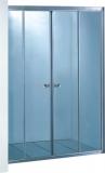 Шторы на ванну KO&PO 1500х1450 профиль сатин, стекло матовое(fabric) (4009(150))