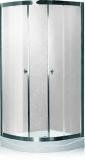 Душевая кабина KO&PO 800х800х2000 профиль сатин, дымчатое стекло 7122
