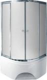 Душевая кабина KO&PO 1000х1000х1960 профиль сатин, дымчатое стекло 2124 grey