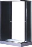 Душевая кабина KO&PO 800х1000х1900 профиль сатин, матовое стекло 7007 fabric