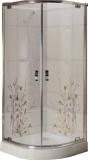 Душевая кабина KO&PO 800х800х1900 профиль сатин, матовое стекло FS-03 декор