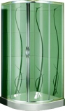Душевая кабина KO&PO 800х800х1850 профиль хром, матовое стекло (декор) (FS-05 (80))
