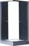 Душевая кабина KO&PO 800х800х1900 профиль сатин, матовое стекло 7006 fabric