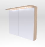 Шкафчик зеркальный Буль-Буль 800x270x700 (ШЗ-10) венге