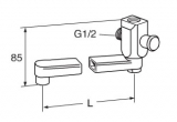 Излив для ванны/душа GUSTAVSBERG 250мм 41635272