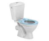 Унитаз-компакт  БЕМБИ кос. вып. S10990050 + сиденье голубое