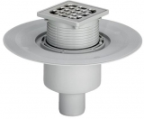 Трап для ванной комнаты 100х100 горизонт. диаметр  Advantix 617271