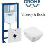 Комплект инсталляция GROHE RAPID SL 38775001 4в1+унитаз Villeroy&Boch Architectura 5685HR01