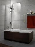 Шторка для ванны RADAWAY Torrenta PN 800х1500, левая, графитовое стекло 201101-105NL