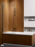 Шторка для ванны RADAWAY Torrenta PN 800х1500, левая,  стекло прозрачное 201101-101NL
