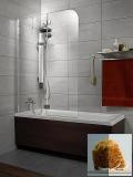 Шторка для ванны RADAWAY Torrenta PN 1010х1500, левая, графитовое стекло 201202-105NL