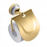 Держатель туалетной бумаги с крышкой  DEVIT CHARLESTONE CERAMIC 3051142G золото