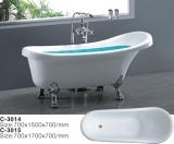 Ванна акриловая ATLANTIS C-3015 1500х700 львиные ножки - серебро