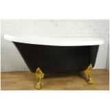 Ванна акриловая ATLANTIS C-3015 BLACK 1700х780 львиные ножки - золото