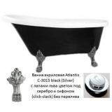 Ванна акриловая ATLANTIS C-3015 BLACK 1700х780 львиные ножки - серебро