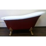 Ванна акриловая ATLANTIS C-3015 RED 1700х780 львиные ножки - бронза