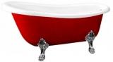 Ванна акриловая ATLANTIS C-3015 RED 1700х780 львиные ножки - серебро