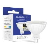 1-GBL-111 Светодиодная лампа энергосберегающая Global (MR16 3W 3000K 220V GU5.3) мягкий свет