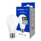 1-GBL-162 Светодиодная лампа энергосберегающая Global (A60 8W 4100K 220V E27 AL) яркий свет