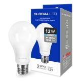 1-GBL-166 Светодиодная лампа энергосберегающая Global (A60 12W 4100K 220V E27 AL) яркий свет