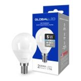 1-GBL-144 Светодиодная лампа энергосберегающая Global (G45 F 5W 220V E14 AP K4100) яркий свет