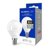 1-GBL-143 Светодиодная лампа энергосберегающая Global (G45 F 5W 220V E14 AP K3000) мягкий свет