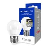 1-GBL-141 Светодиодная лампа энергосберегающая Global (G45 F 5W 220V E27) мягкий свет