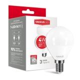 1-LED-5411 Светодиодная энергосберегающая лампа (G45 4W 220V E27) мягкий свет