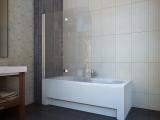Штора для ванной KOLLER POOL QP97 1150х1400 left grape