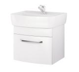 Шкафчик CERSANIT PURE + раковина PURE 55 см белый