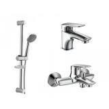 Набор смесителей для ванны IMPRESE PRAHA new (05030+10030+R670SD)