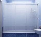 Шторка на ванну трехстворчатая раздвижная МетаКам Классик 150см (кубы, волны)