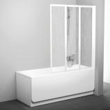 Штора для ванны  VS 3 115 проф. белый, стекло транспарент 795S0100Z1