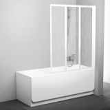 Штора для ванны  VS 3 115 проф. белый, пластик rain 795S010041