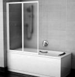 Штора для ванны  VS 2 105 проф. белый, стекло рейн 796M0100ZG