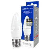 1-GBL-131 Светодиодная лампа энергосберегающая Global (C37 CL-F 5W E27) мягкий свет