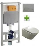 Комплект инсталляция VOLLE Master 3в1 121515 + унитаз VOLLE NEMO Rimless 13-17-316 сид soft.
