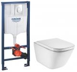 Комплект инсталляция GROHE RAPID SL 38721001+унитаз ROCA GAP Clean Rim A34H47C000