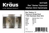 Мойка Kraus REX 650x505х220 KHT32R