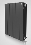 Секционный биметаллический радиатор Royal Thermo Piano Forte 500/Noir Sable 4 секции (черный)
