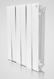 Секционный биметаллический радиатор Royal Thermo Piano Forte 500/Bianco Traffico 10 секций (белый)