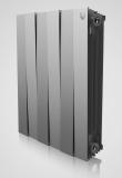 Секционный биметаллический радиатор Royal Thermo Piano Forte 500/Silver Satin 8 секций (серебристый)