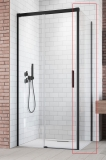 Боковая стенка RADAWAY Idea Black S1 800x2005 стекло прозр., проф. черный 387051-54-01R