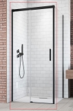 Душевая дверь RADAWAY Idea Black KDJ 1400x2005 стекло прозр., проф. черный 387044-54-01L