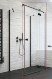 Душевая дверь RADAWAY Essenza New Black KDJ+S 80 стекло прозр., проф. черный 385021-54-01R