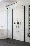 Душевая дверь RADAWAY Essenza New Black KDJ+S 100 стекло прозр., проф. черный 385022-54-01L